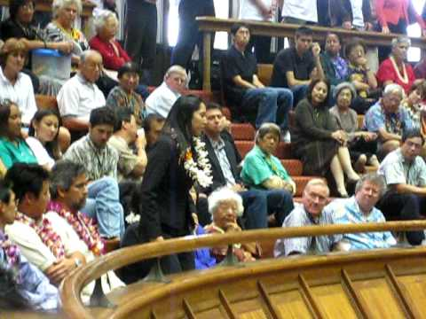 Act 221 Guests Introduced, Rep. Lynn Finnegan, Opening Day Hawaii State Legislature, 2009