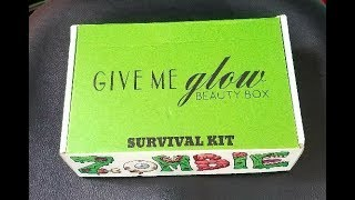Give Me Glow Cosmetics - October Beauty Box - Survival Kit - with swatches