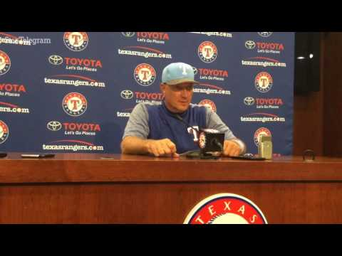 Jeff Banister discusses another 10-run game and Mike Napoli's two homers
