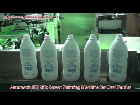 Automatic UV Silk Screen Printing Machine For Oval Bottles