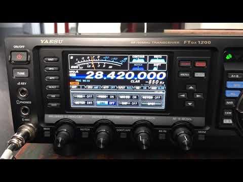 Icom IC-7300 factory default settings 10 meters