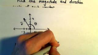 Magnitude and Direction of a Vector, Example 1. Here we find the ma...