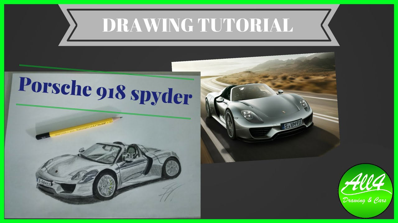 DRAWING TUTORIAL: Drawing Porsche 918 spyder - YouTube on porsche boxster drawings, porsche cayenne drawings, hennessey venom gt drawings, porsche macan drawings, sports car drawings, lamborghini drawings, porsche concept drawings, porsche panamera drawings, chevrolet camaro drawings, porsche 962 drawings, nissan gt-r drawings, fiat 500 drawings, bugatti veyron drawings, porsche turbo drawings, porsche carrera drawings, porsche 550 spyder drawings, still life pencil drawings, porsche carrera gt, bmw i8 spyder drawings,