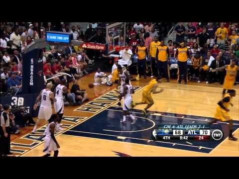 Paul George Full Highlights at Hawks 2014 Playoffs East R1G4 - 24 Pts, 10 Reb
