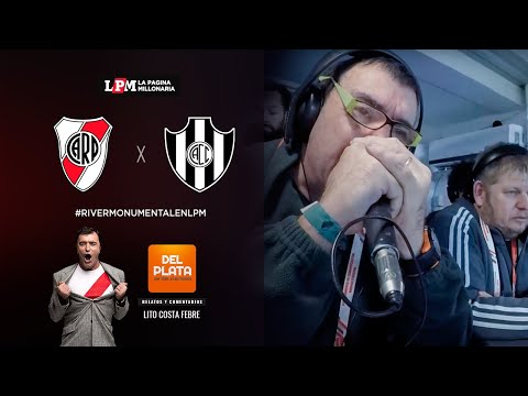 River vs. Central Córdoba en vivo con los relatos de Atilio Costa Febre por Radio del Plata