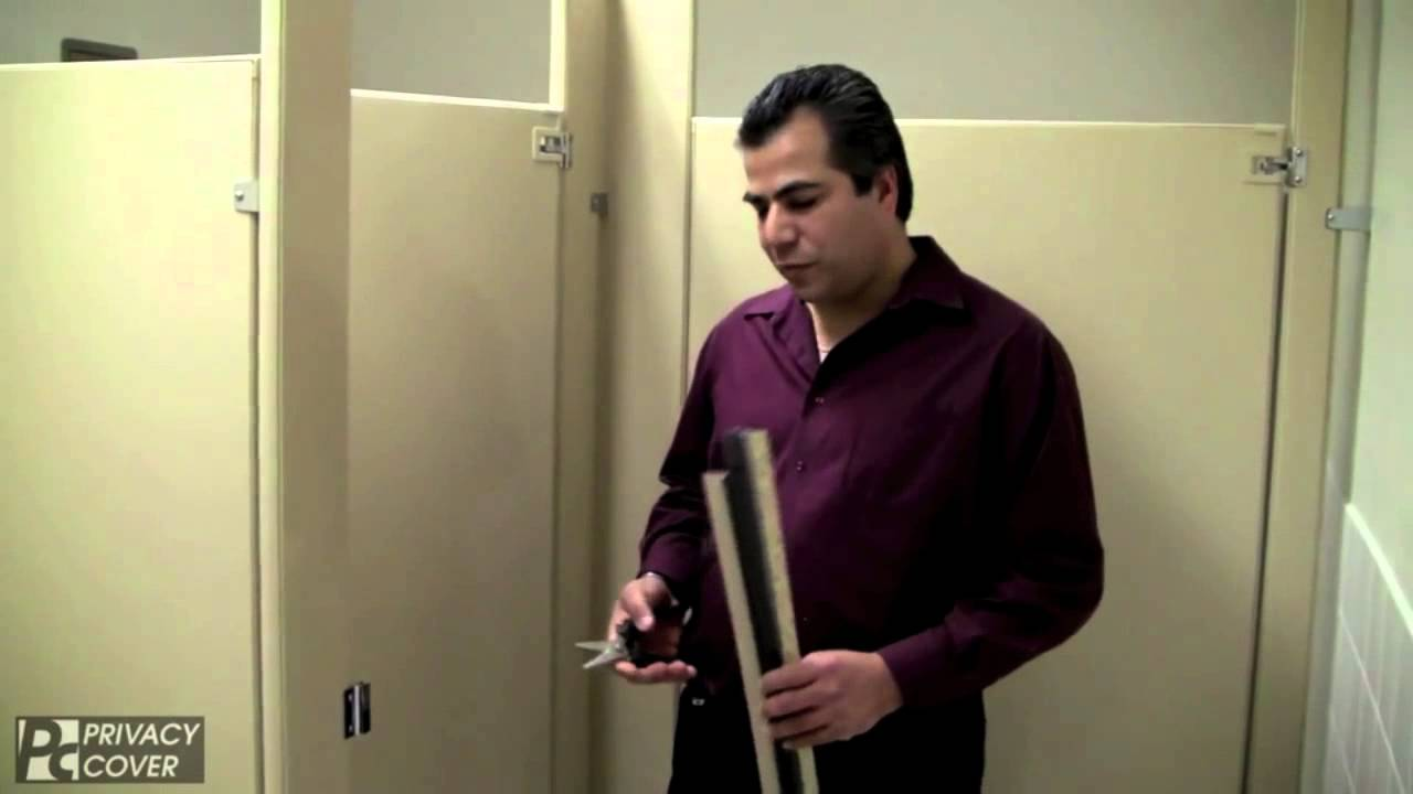 toilet partition privacy strip installation video youtube