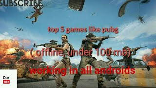 Top 5 games like Pubg Battelground games offline /under 100 mb / Woking in all android