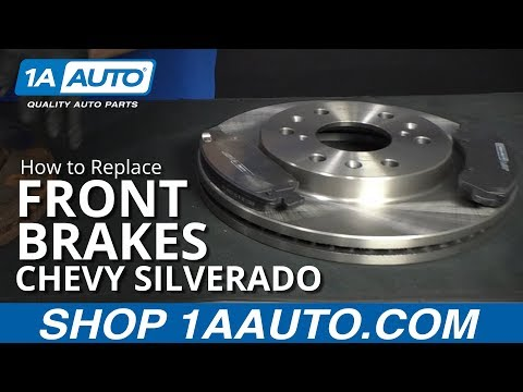 How to Replace Front Brakes 07-18 Chevy Silverado
