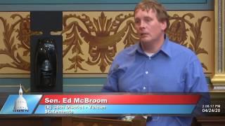 Sen. McBroom Closing Floor Statement on April 24 Session