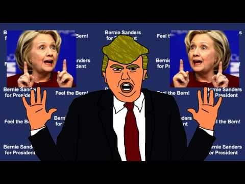 Donald Trump Attacks Hillary Clinton Cartoon / Parody / Impersonation