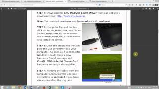 how to upgrage the software of the viseeo mb 4 handsfree bluetooth car kit