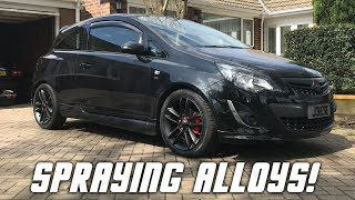 SPRAYING ALLOYS!! *Matt Black*