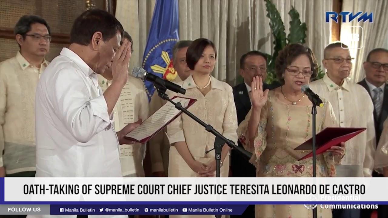 Oath-Taking of Supreme Court Chief Justice Teresita Leonardo De Castro