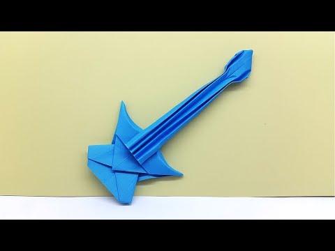 How to Make a Guitar / Bass - Origami Guitar Tutorial