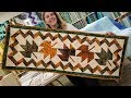 My FREE PATTERN for the Maple Leaf Table Runner!