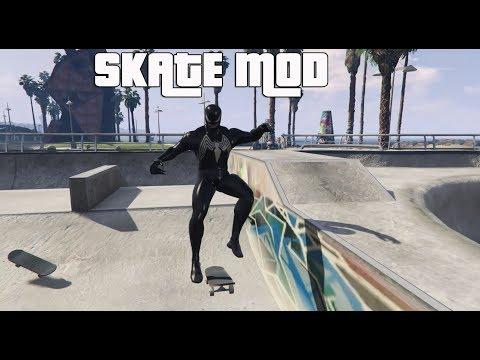 Gta 5 - Skateboard Mod With Tricks Gameplay