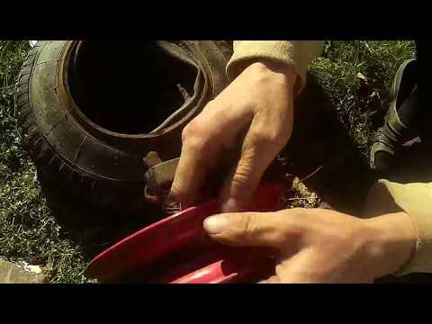 Как поменять камеру на садовой тачке