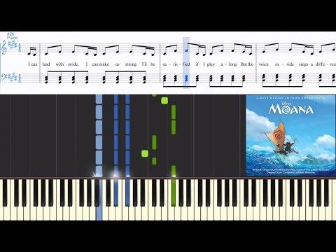 Auli'i Cravalho - How Far I'll Go (from Moana) (Synthesia Piano Tutorial w/Lyrics)