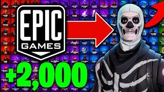 EPIC GAMES SAVED MY SKULL TROOPER & $2,000 WORTH OF SKINS ON FORTNITE!!!