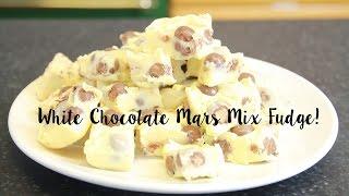 White Chocolate Mars Mix Fudge - No Bake Recipe
