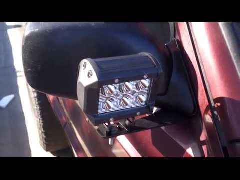 50 Quot Cree Light Bar And 4 18w Spot Cree Led Lights 01 Jeep