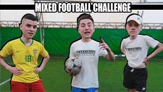 MIXED FOOTBALL CHALLENGE !! w/Simi,Janko