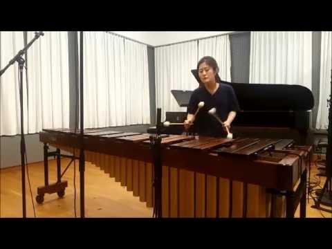Cello suite No. 6 Prelude by J.S Bach - Solo Marimba, Hyeji Bak