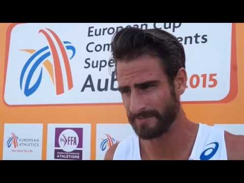 Romain Barras (FRA) after Day 1, EC Aubagne 2015