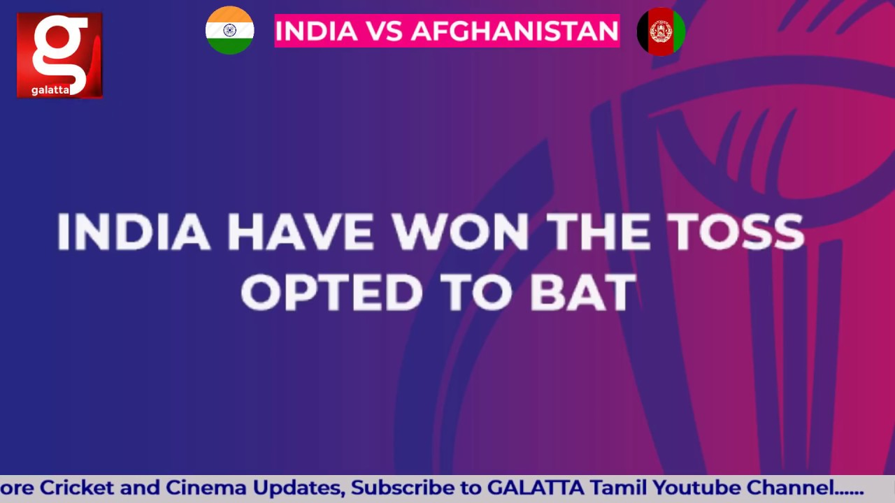 India vs Afghanistan, Cricket World Cup 2019: live score and latest updates