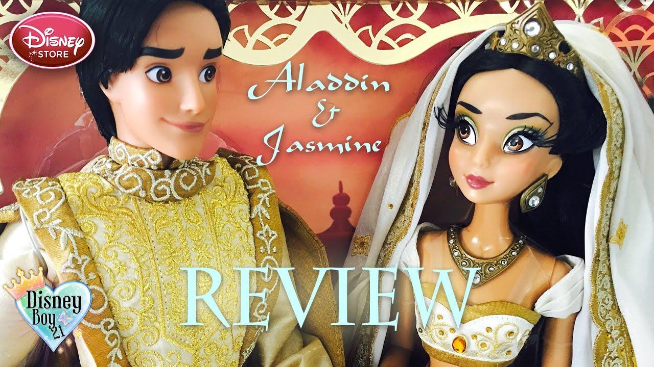 Limited Edition Aladdin & Jasmine Wedding Doll Set Review - Disney ...