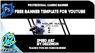 FREE GAMING BANNER TEMPLATE 2016