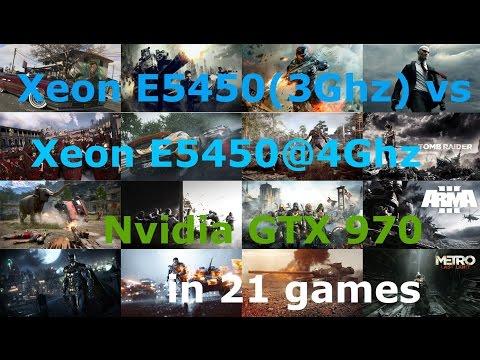 Игровые тесты и сравнения производительности Xeon Socket 775