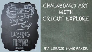 Video Chalkboard Art with Cricut Explore download MP3, 3GP, MP4, WEBM, AVI, FLV November 2018