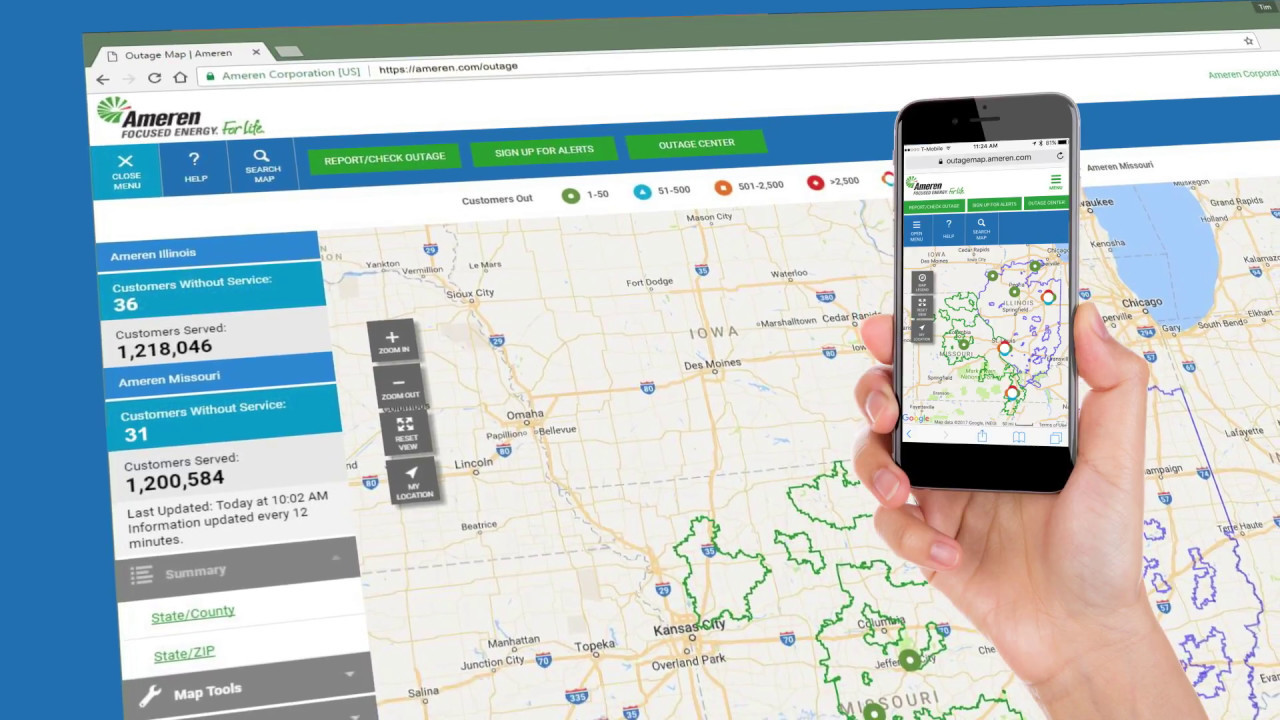 Ameren outage map guide - YouTube