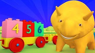Der Lego Film 2 - Lerne Zahlen beim Spielen mit Lego!  - Dino dem Dinosaurier 👶 Lehrreiche Cartoon