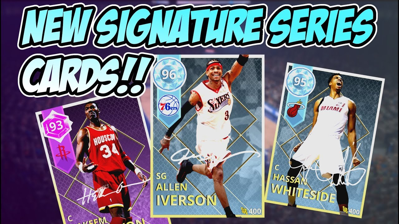 timeless design f9e2d a0506 DIAMOND ALLEN IVERSON!! NEW SIGNATURE SERIES CARDS!! NBA 2k18 MYTEAM