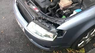 замена лампочки переднего поворотника ауди A4