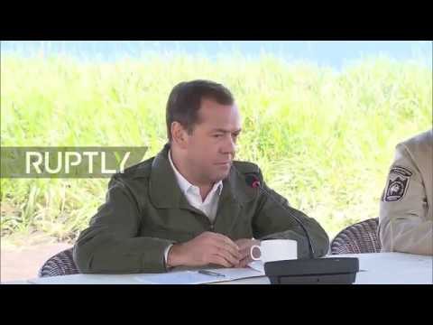 Russia: PM Medvedev warns of 'economic war' over new US sanctions