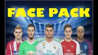 PES 2018 Ultimate Realistic Face Pack ft. Ronaldo, Neymar, Lewandowski | Download + Install | HD