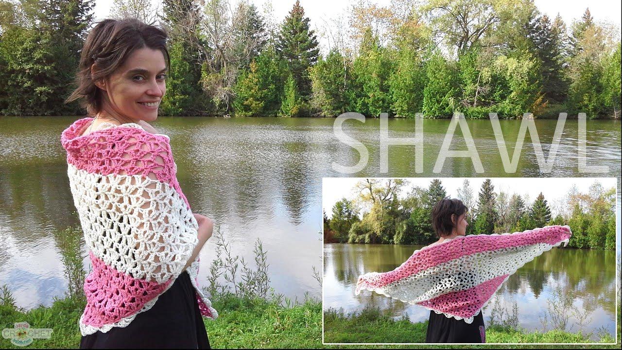 Crochet shawl beautiful vintage lace style youtube bankloansurffo Choice Image