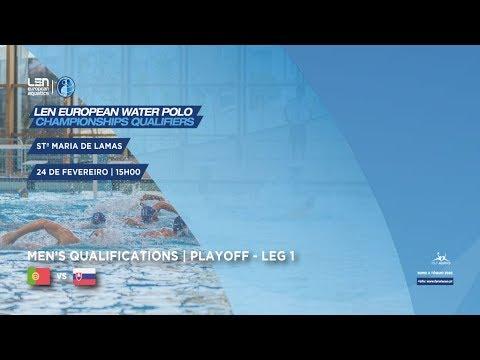 Len European Water Polo ChampionShips Qualifiers / Stª Maria de Lamas / Portugal vs Eslováquia
