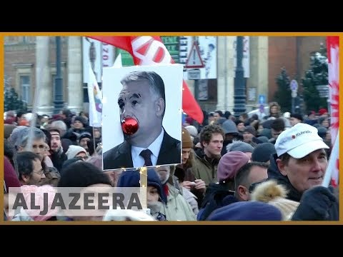 🇭🇺Thousands in Hungary protest PM Viktor Orban's 'slave law' | Al Jazeera English
