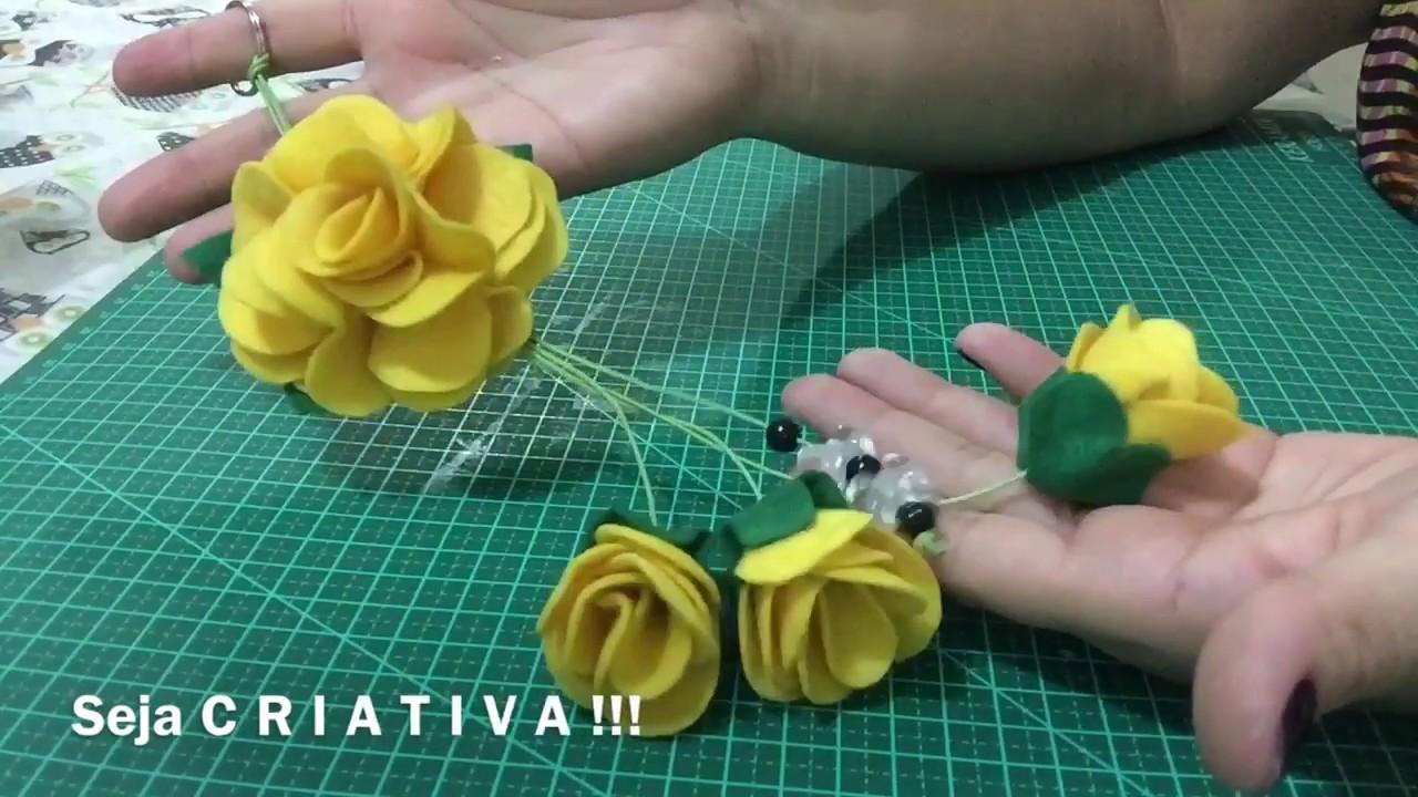 Chaveiro De Flor Em Feltro Youtube