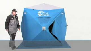 Clam Pop-up Hub Fish House ''How to set it up''.mov