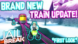 FIRST LOOK AT THE BRAND NEW TRAIN IN ROBLOX JAILBREAK!!! *WINTER UPDATE*
