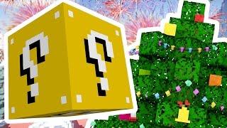 Minecraft 1V1V1V1 SKY ISLAND SUPERHERO CHRISTMAS LUCKY BLOCK BATTLES! | (Minecraft Modded Minigame)