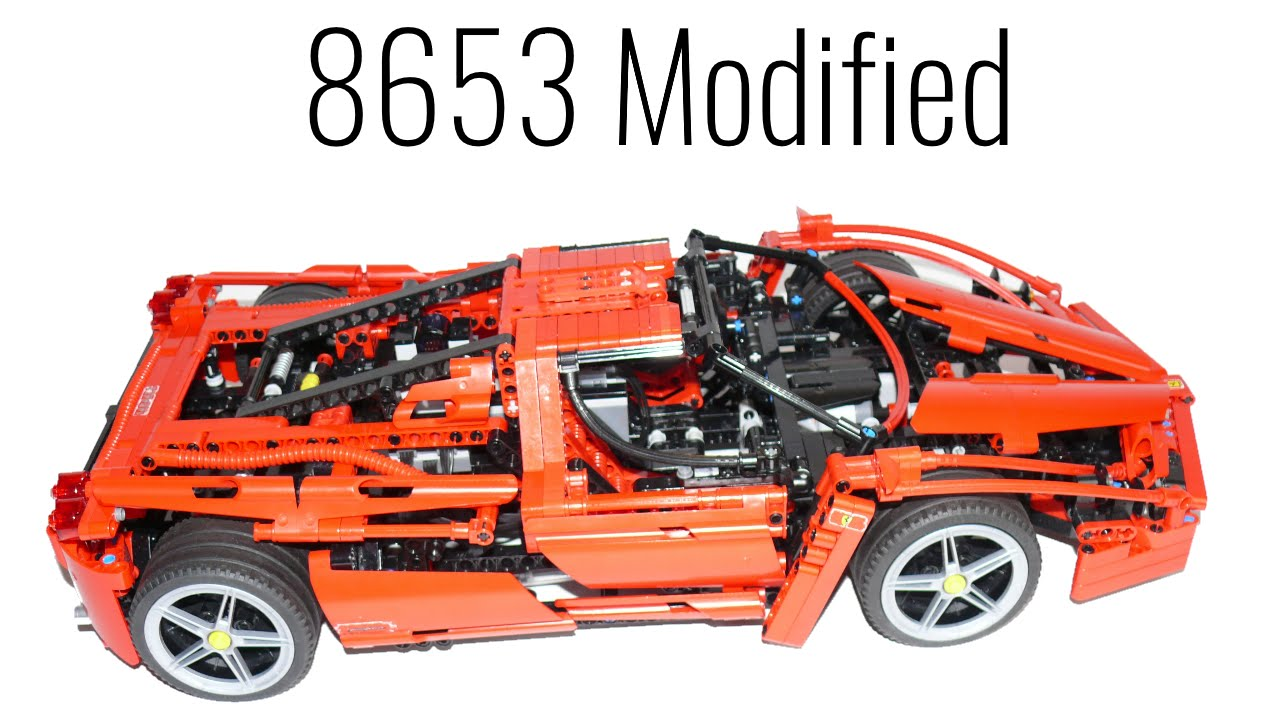 Lego Technic 8653 Ferrari Enzo Modified Youtube