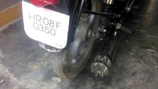 Tail gunner exhaust for royal Enfield bikes by ROAR EXHAUSTS