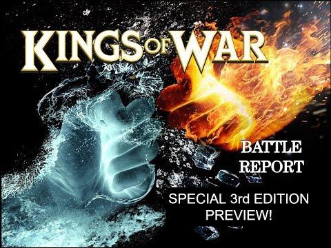 Kings of War VERSION 3 Battle report! Elves vs. Basilea