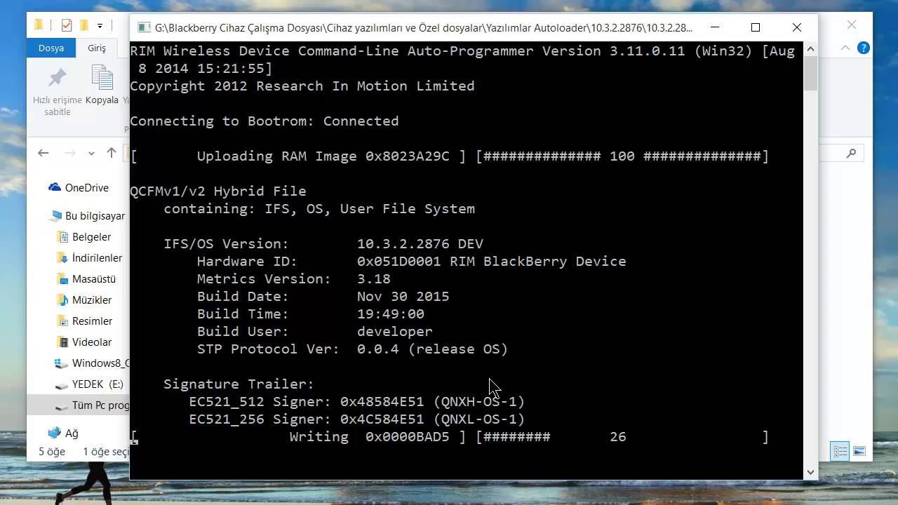RIM (BlackBerry) Wireless Device Command-Line Programmer Version